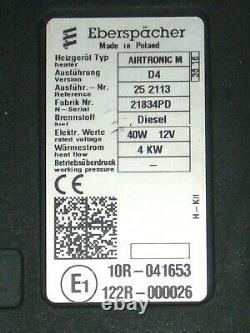 Eberspächer Airtronic D4 Diesel 12V Standheizung 252113 Bausatz + Timer TOP