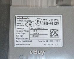 NEU Webasto Air Top 2000 STC 12V, 2,0 kW DIESEL NACHT HEIZUNG 9031125C
