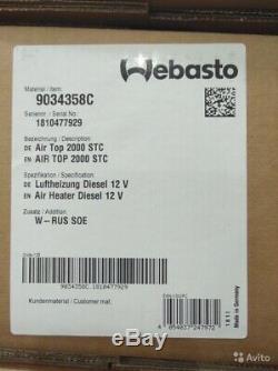 Neu Air Top Webasto 2000 STC 12v Standheizungen Diesel 9034358A