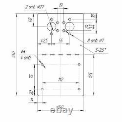 Planar Standheizung Halter Winkel Edelstahl für D2 Unterflur Luftheizung