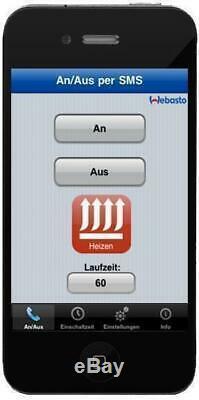 Standheizung Webasto Handysteuerung ThermoConnect Airtop Evo 4 Evo 5 Handy App