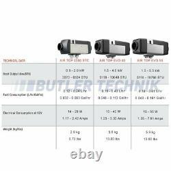 WEBASTO HEATER AIR TOP 12v diesel 2000 ST C Latest 2021 heater spec 4111385C