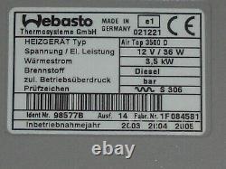 Webasto AirTop 3500 Diesel 12V Standheizung Luftheizung komplett mit Bausatz TOP