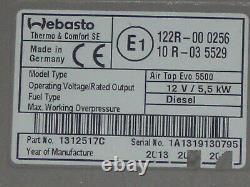 Webasto AirTop Evo 5500 12V Diesel Standheizung mit neuer Bausatz Bedienteil TOP