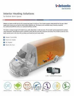 Webasto Air Top 2000 STC 12v 2kW Diesel Heater Kit 5012550A