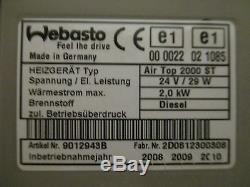 Webasto Air Top 2000 ST 24V Diesel, Standheizung, Luftheizung