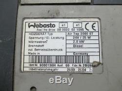 Webasto Air Top 2000 ST 24V Diesel, Standheizung, Luftheizung für Actros MP2/3