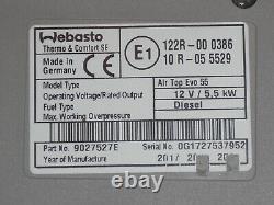 Webasto Air Top Evo 55 Diesel 12V Standheizung mit neuer Bausatz Bedienteil TOP