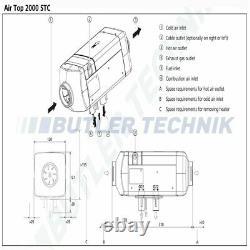 Webasto Air Top Heater 2000 STC 24v Kit diesel 2020 SPECIAL OFFER