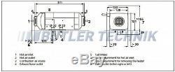 Webasto Heater Air Top 2000STC diesel Twin Air Outlet Motorhome RV kit 12v