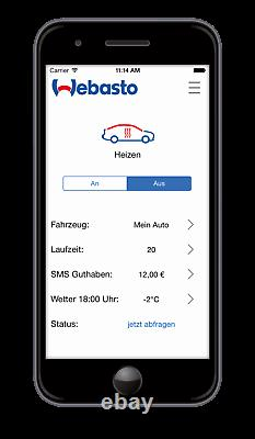 Webasto Luftheizung Air Top Evo 55, 5kW, Diesel, Benzin, 12V, Thermo Call TC4