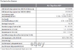 Webasto Marine Standheizung Air Top Evo 40, 12Volt, Drehregler, 9029249A